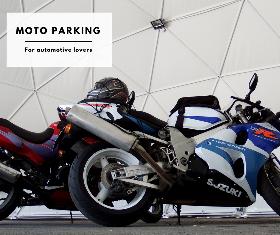 Parking place for motorcycles